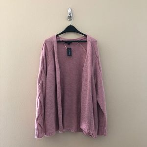 NWT Lane Bryant Pink Cardigan Sweater 22/24